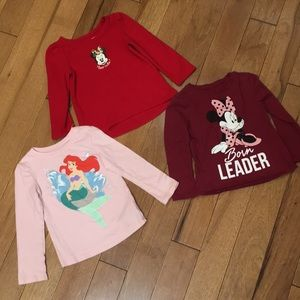 3 disney character shirts